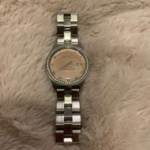 Marc Jacobs Pink Face Silver Watch
